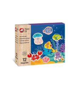 Jogo Magnet Box Madeira Animais Marinhos Íman