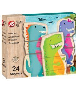 Jogo Magnet Box Madeira Dinossauros Íman