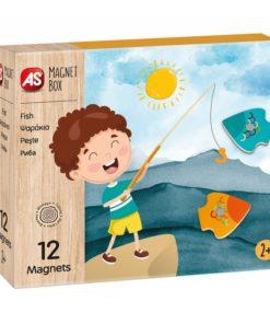 Jogo Magnet Box Madeira Jogo Pesca