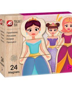 Jogo Magnet Box Madeira Princesas Íman