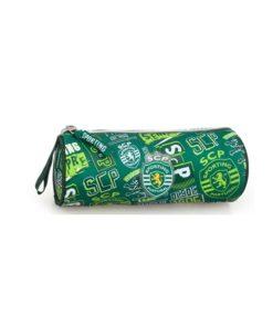 Estojo Sporting Redondo Verde c Logos