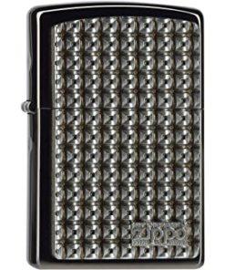 Isqueiro Zippo Metal com Quadrados 3D