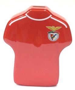 Mealheiro Benfica de Lata em Forma de T-shirt