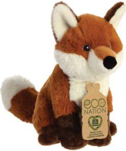 Peluche Raposa Eco Nation 23 cm muito fofinho ao toque e além disso feito de material reciclado. Medidas: 23 cm Eco Nation Aurora