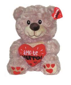 """Peluche Urso c/ Coração """"Amo-te Muito!"""" 18cm"""