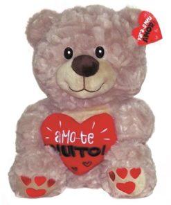 Peluche Urso c Coração Amo-te Muito! 37cm