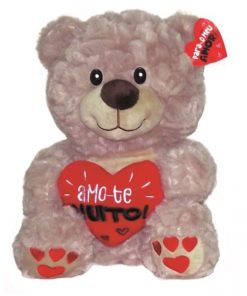 Peluche Urso c Coração Amo-te Muito! 50cm