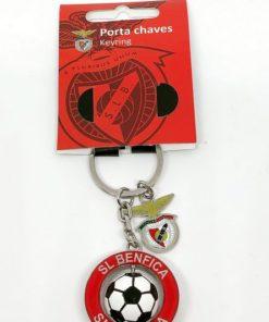 Porta-Chaves Benfica 3D c/ Bola e Emblema