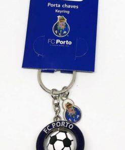 Porta-Chaves Porto 3D c/ Bola e Emblema