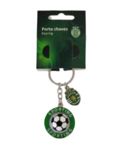 Porta-Chaves Sporting 3D c/ Bola e Emblema