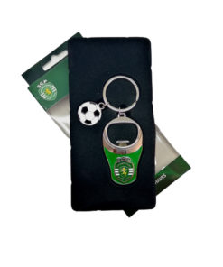 Porta-Chaves Sporting Metal Abre Caricas c Bola