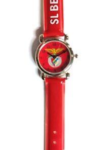 Relógio Benfica Pequeno Analógico Vermelho