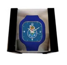 Relógio Porto Quadrado c/ Fundo Azul