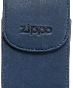 Cigarreira Zippo em Pele Azul