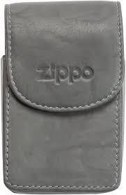 Cigarreira Zippo em Pele Cinzenta