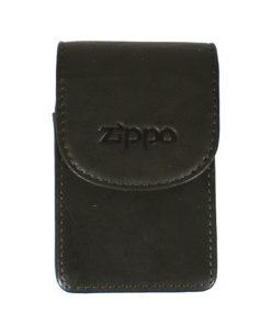 Cigarreira Zippo em Pele Preta
