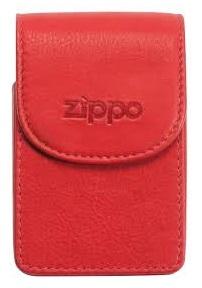 Cigarreira Zippo em Pele Vermelha