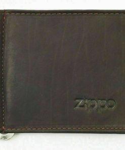 Porta Cartões e Notas Zippo Preto c/ Ferro