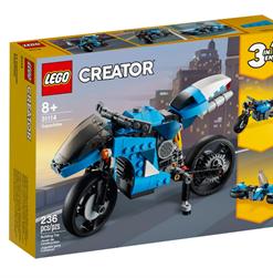 Supermota Azul Lego Creator.