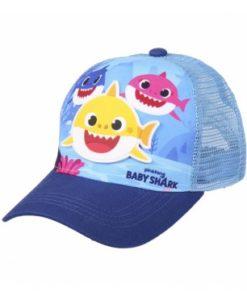 Boné Baby Shark Azul c Tubarão de Borracha (51)