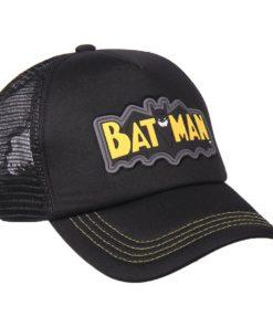 Boné CAP Batman Preto c/ Símbolo em Borracha (56)