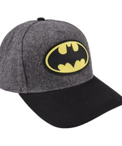 Boné de Feltro Batman Cinza com Símbolo