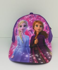 Boné Roxo e Rosa com Borboletas (52-54) Frozen