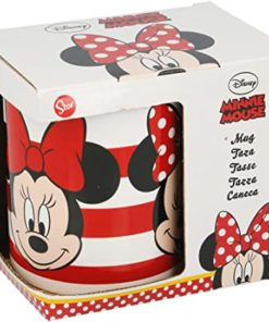 Caneca Minnie Cerâmica c/ Riscas 325ml