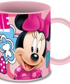 """Caneca Minnie de Plástico Rosa """"Cool"""""""