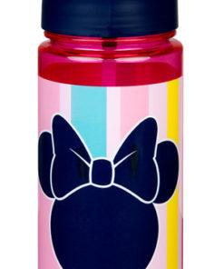 Cantil Minnie Plastico Rosa c/ Riscas 500 ml.