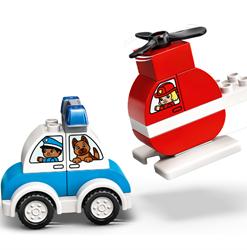Helicóptero Bombeiros Lego e Carro Polícia Duplo