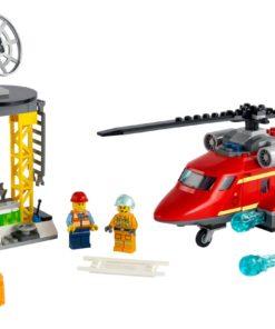 Helicóptero de Resgate Bombeiros Lego City Fire
