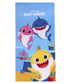 Toalha de Praia Azul com 3 Tubarões Baby Shark