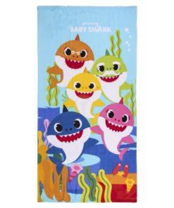 Toalha de Praia Azul com 5 Tubarões Baby Shark
