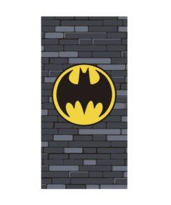 Toalha de Praia Batman Cinza com Tijolos
