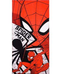 Toalha de Praia Cinza e Vermelha Spiderman