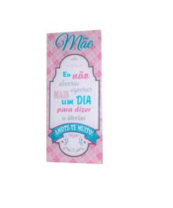 """Placa de Vidro Rosa """"Mãe Eu Não Deveria Esperar"""""""