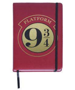 """Caderno Harry Potter c/ Elástico """"Plataform 9 3/4"""""""