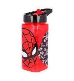 "Garrafa SpiderMan c/ Palha 530ml ""Urban Web"""