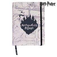 Bloco de Notas Harry Potter c Elástico Map