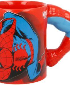 Caneca de Cerâmica SpiderMan com Braço 3D