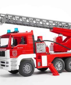 Carro bombeiros Bruder c/ Escada e Mangueira