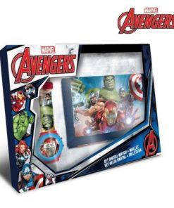 Conjunto Avengers Carteira Velcro c/ Relógio Digital