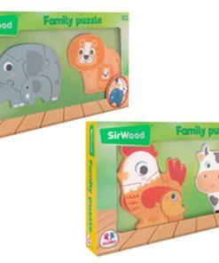 Puzzle Sir Wood de Madeira de Mãe e Bebé