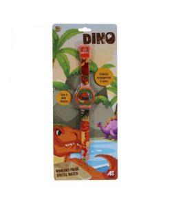 Relógio Digital Dinossauros Laranja Dino