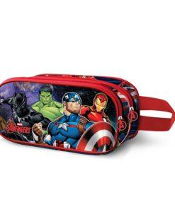 Estojo Avengers Oval Duplo 3D Vs Thanos