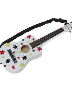 Guitarra de Criança E-Kid em Madeira c Estrelas