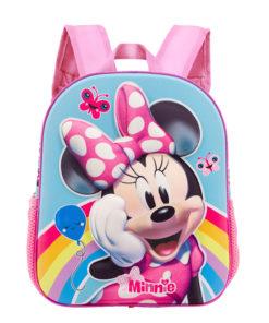 Mochila Infantil Minnie 3D Rainbow