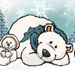 Winter - Urso Polar, Foca, Pinguim e Boneco de Neve