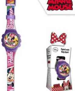 Relógio Digital Minnie Roxo New Sport